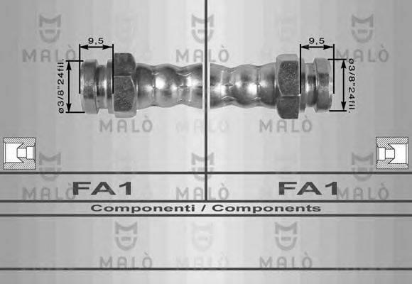 MALO 8100 Тормозной шланг