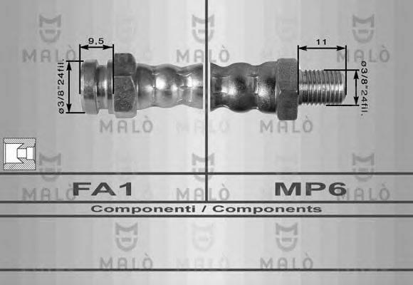 MALO 8102 Тормозной шланг